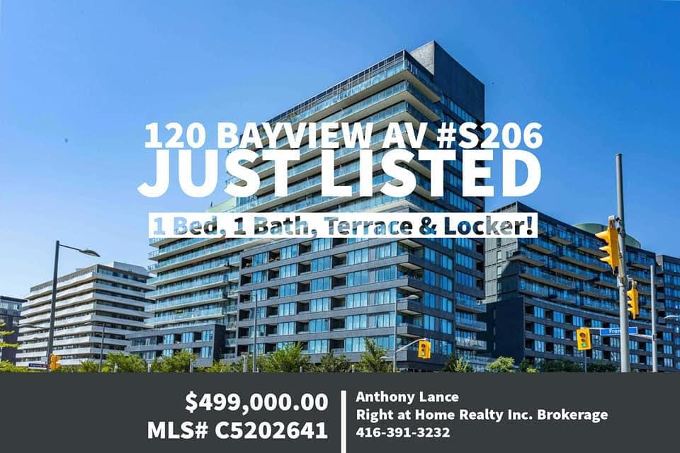 New Listing – 120 Bayview Ave S206